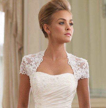 Lace bridal jackets boleros wedding bells for Lace jackets for wedding dresses