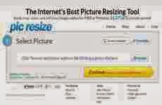 PicResize: permite editar y cambiar el tamaño de imágenes online