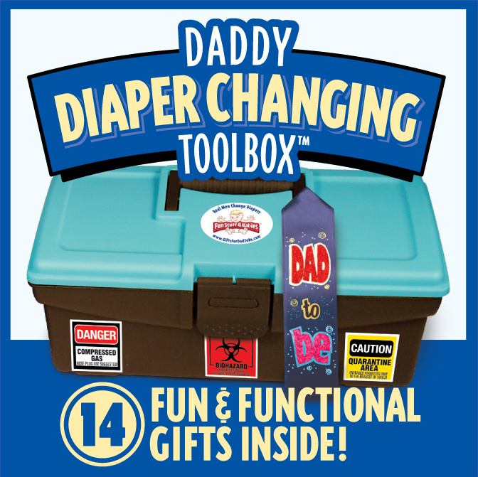 The Daddy Diaper Changing Toolbox Perfect Gift Fathers Day Gift