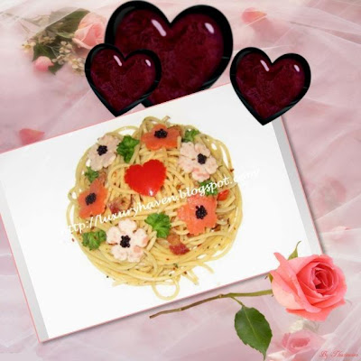 cook this beautiful valentines day aglio olio