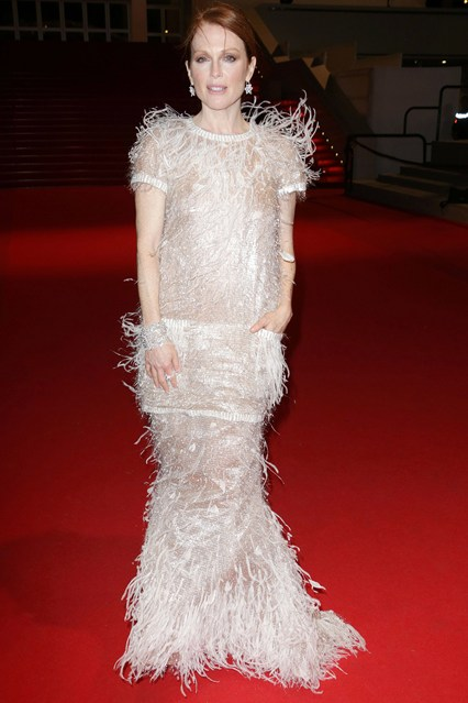Julianne Moore wore a Chanel Couture dress with Chopard jewellery at Cannes 2014