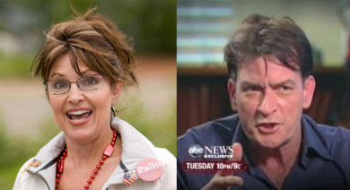 Sarah Palin and Charlie Sheen