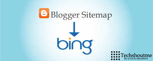 add blogger sitemap in bing