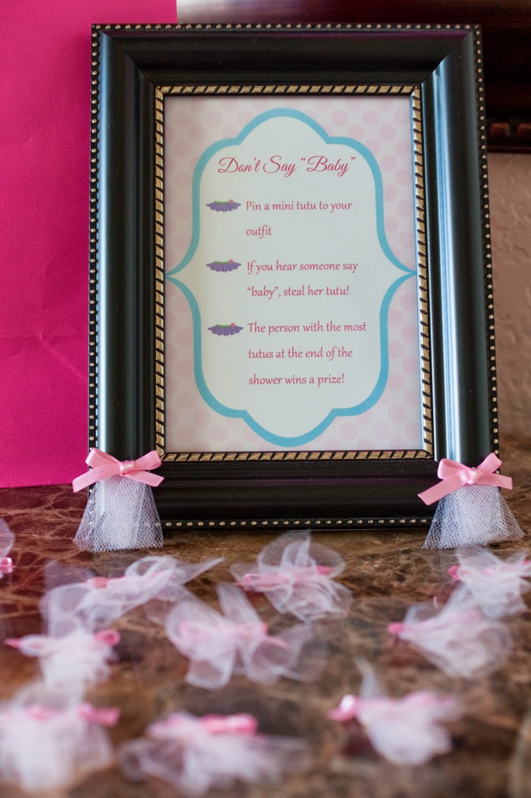 Dont Say Baby Mini Tutu Pin Game Prize Bottle Of Wine