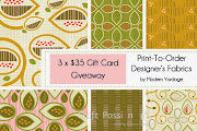 Giveaway: Modern Yardage Fabric Gift Cards