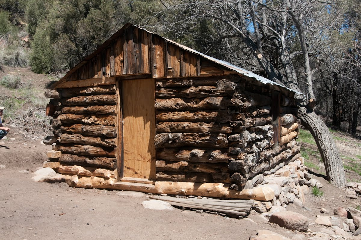 Superb img of We found this beautiful little log cabin in the thick of the pinyon  with #91613A color and 1200x797 pixels