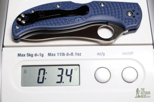 Numbered Spyderco Stretch Blue ZDP-189 - On Scale