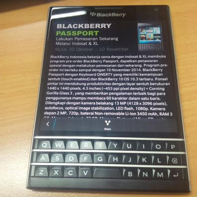 Pre Order BlackBerry Passport