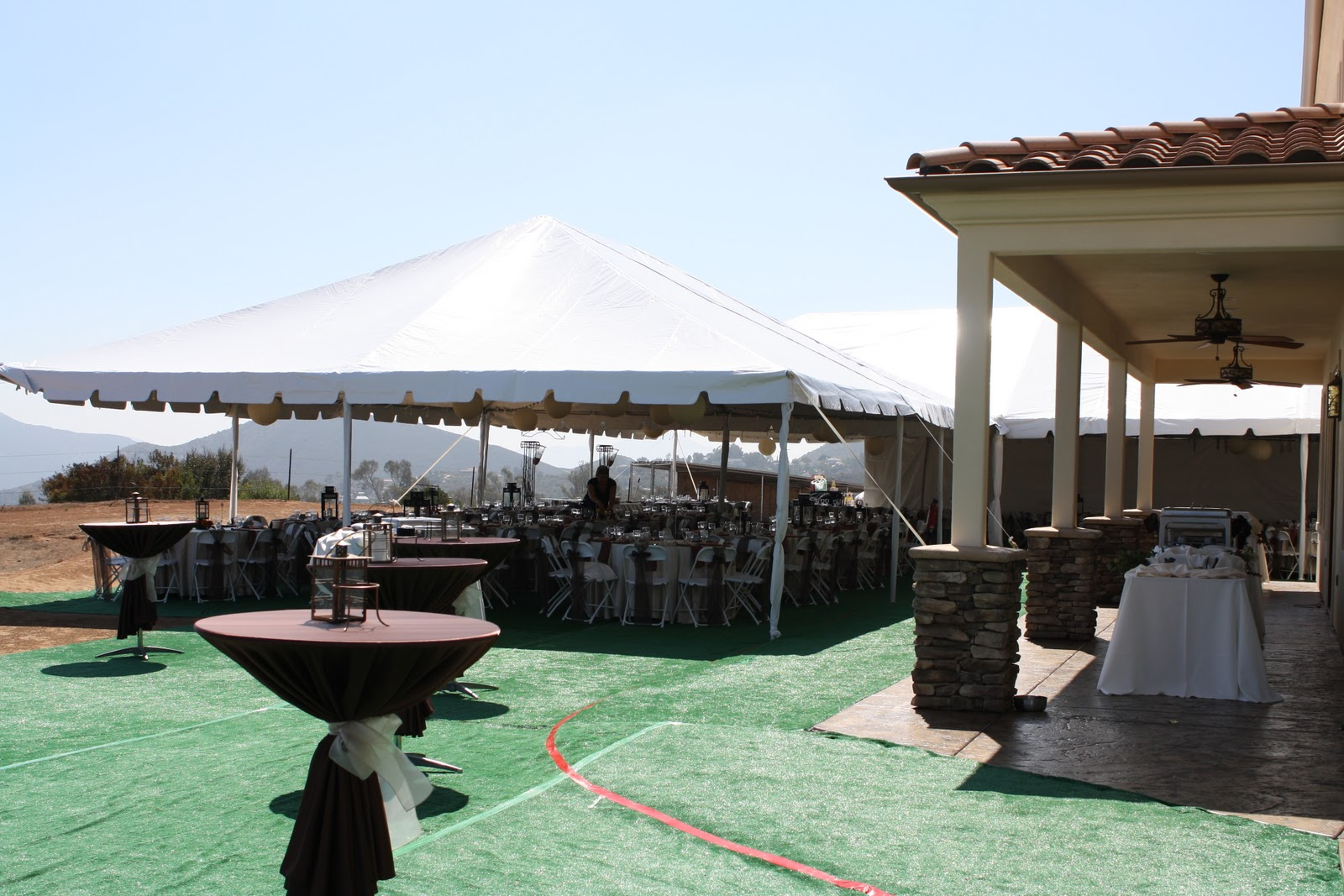 party productions backyard wedding for 250