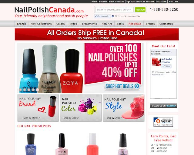 nailpolishcanada.com nail polish canada npc vernis ongles