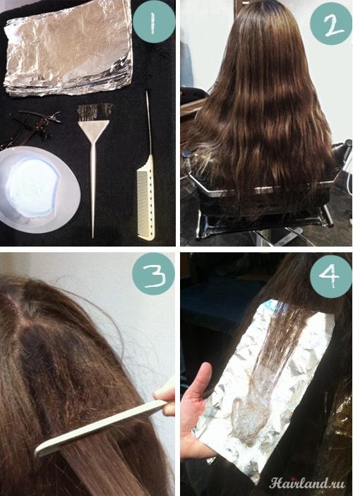Мелирование на длинные волосы видео в домашних