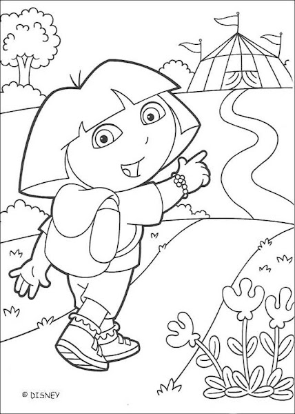Dora Coloring Pages Black and White