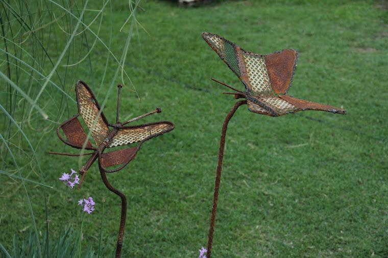 Mariposas con pie