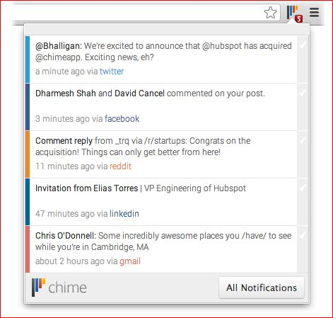 Get notifications from across the web with Chime | Tool-terrific by Cendrine Marrouat