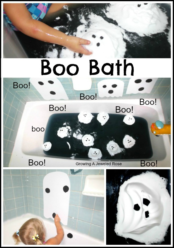 Boo Bath Halloween Fun ~ Growing A Jeweled Rose