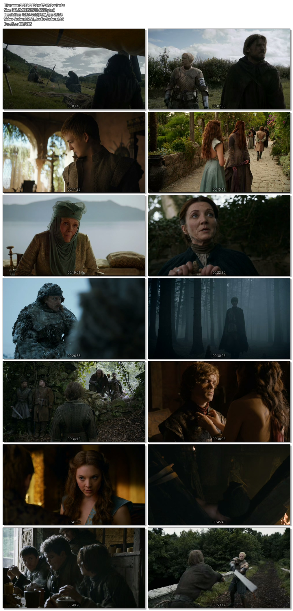 Screenshots Of Hindi Dubbed Show Game of Thrones 2013 Season 03 Episode 02 300MB 720P HD