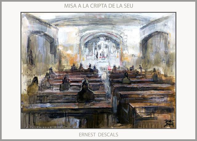 CRIPTA-SEU-MANRESA-PINTURA-MISA-QUADRES-PINTURES-NADAL-OFICIS-RELIGOSOS-ARTISTA-PINTOR-ERNEST DESCALS-