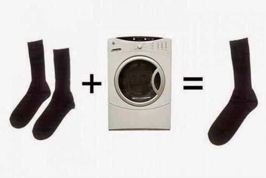 Risultati immagini per calzino lavatrice