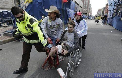 video letupan boston marathon bomb explosion