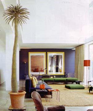 Farblich gekonnte Einrichtung - lichtes Wohnen