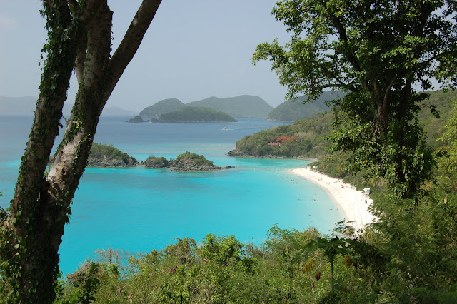 View of beautiful Trunk Bay US Virgin Islands