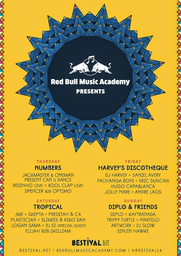 Bestival line-up Red Bull Music Academy stage