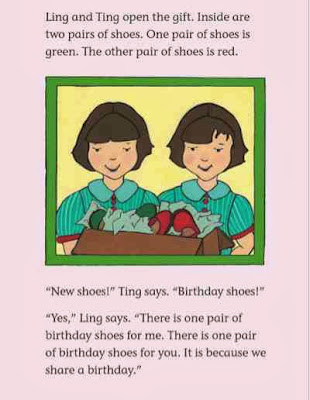 sample page #2 from LING AND TING:WE SHARE A BIRTHDAY  by Grace Lin