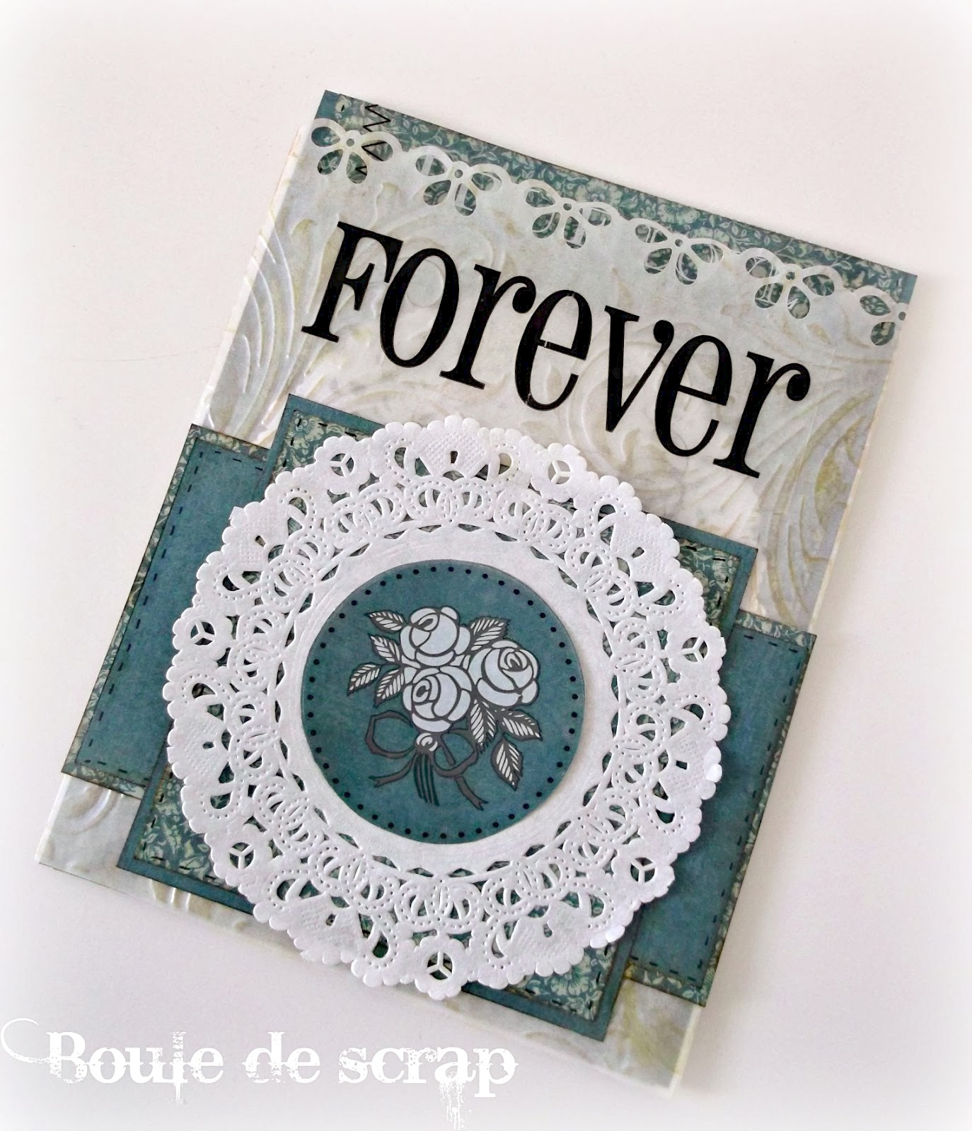 SRM Stickers Blog - Doily Cards by Angélique - #card #love #wedding #stickers #glassine bags #embossed