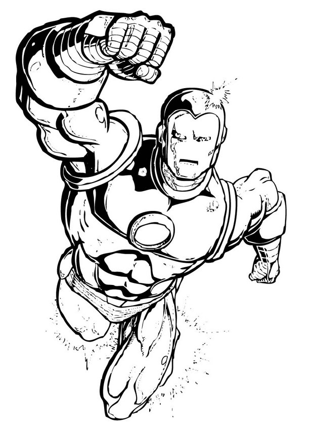 free superhero coloring pages online - photo#27