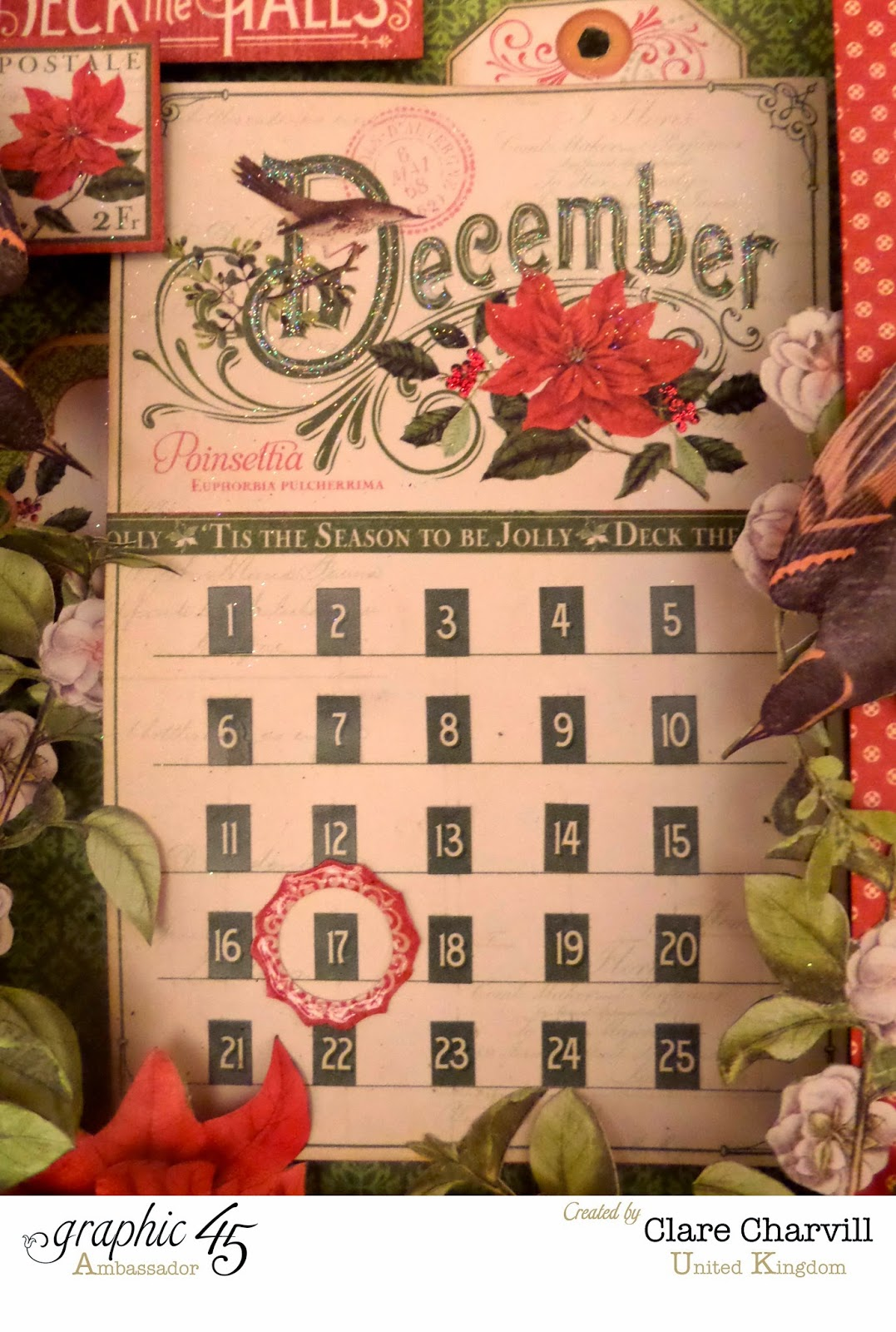 Time to Flourish Countdown to Christmas Advent Calendar  2 Clare Charvill Graphic 45