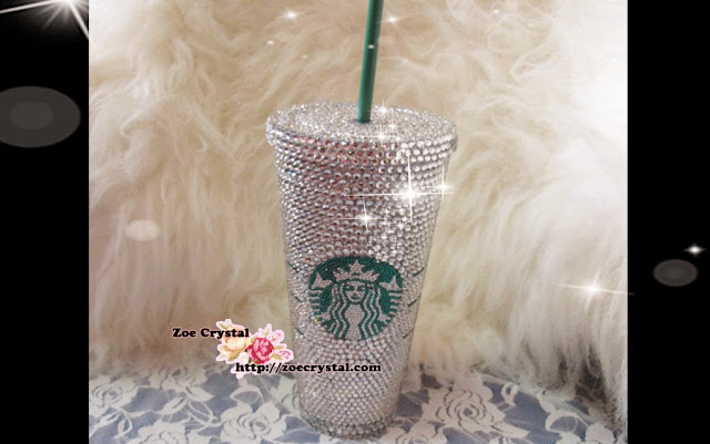 Stylish Bling Crystallized Starbucks Cup For Both Cold And