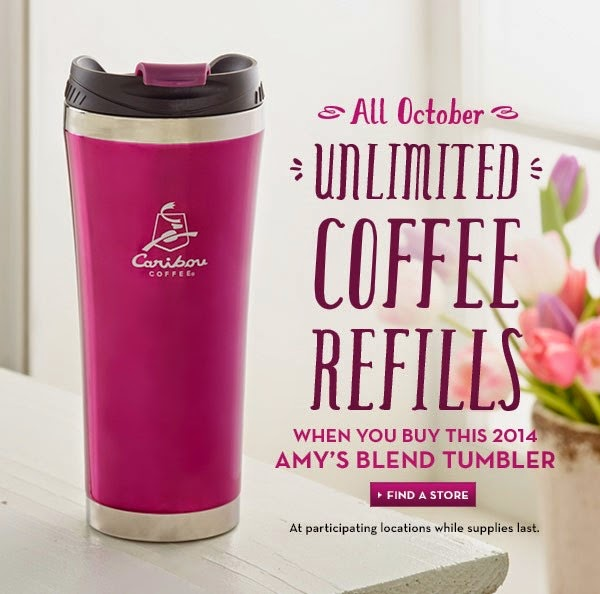 Caribou Coffee Amy's Blend Unlimited Coffee Refills