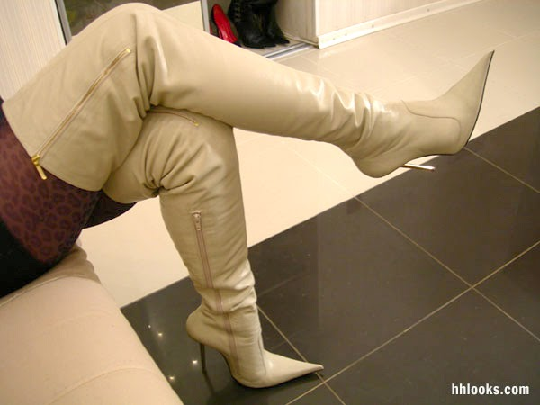 Botas largas de moda