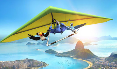 Blu, Jade e Fernando voam de asa delta em Rio