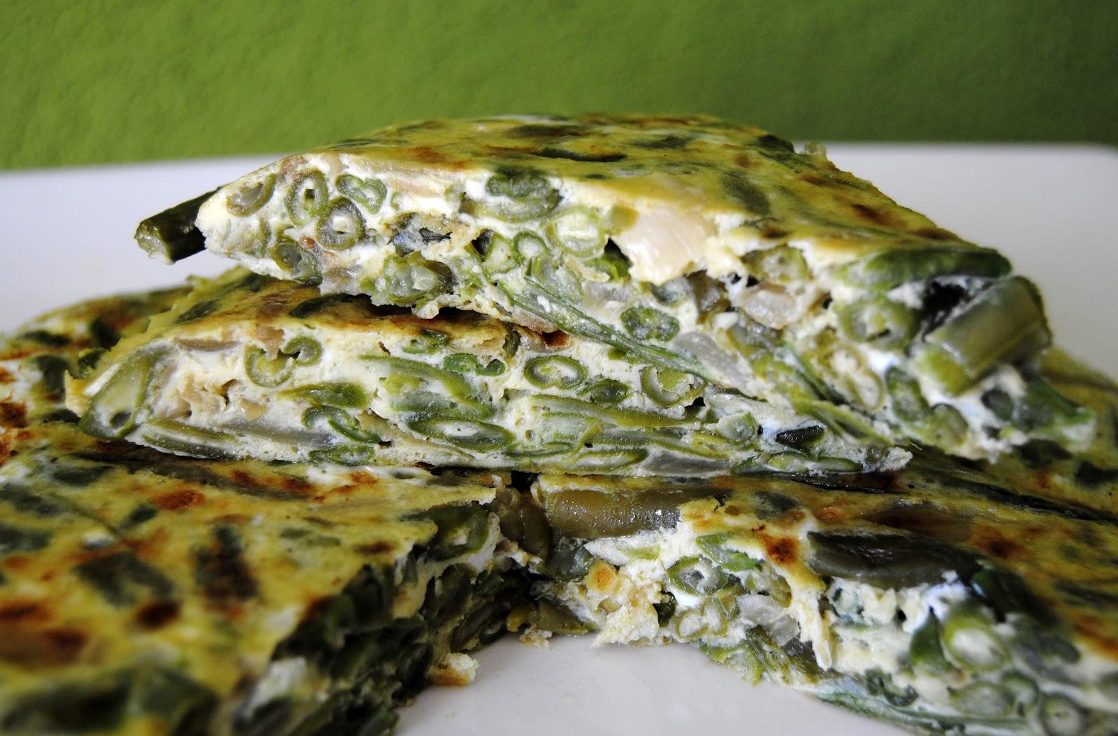 Tortilla de jud as verdes receta asopaipas recetas de - Calorias de las judias verdes ...