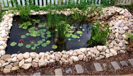 A mi manera idea para hacer un estanque en casa for Como decorar el patio de mi casa
