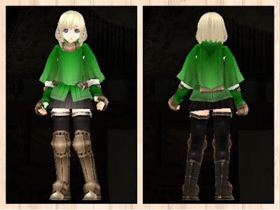 冒険者の服 緑色1 重量化