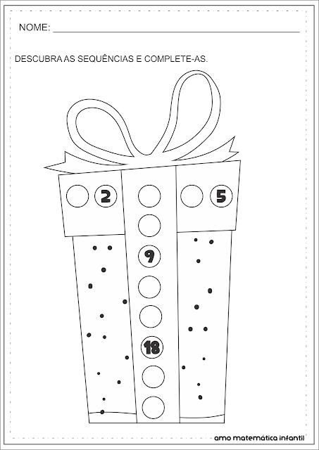 Multiplicação Tabuada 5 Atividades Natal