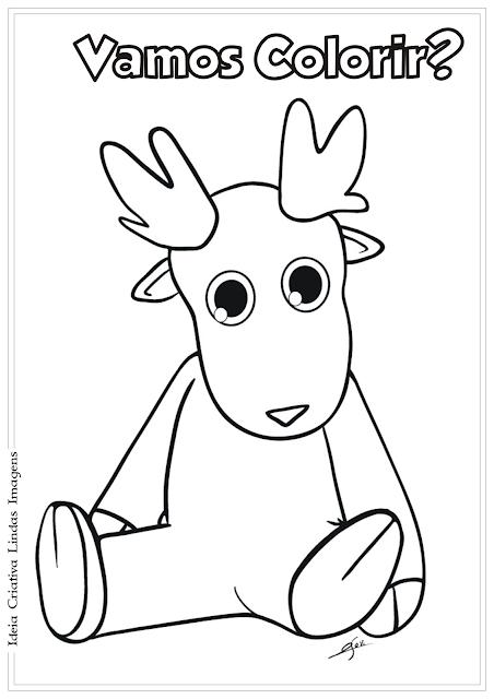 Rena Natal desenho para colorir