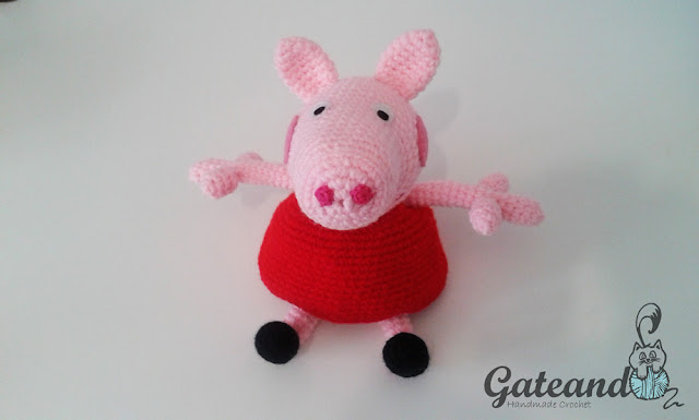 Patron Amigurumi Peppa Pig Grande : Gateando Crochet: Peppa Pig amigurumi