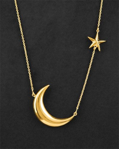 Stunning Moon And Star Necklace