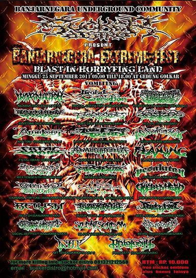 Banjarnegara Underground Community Present Banjarnegara Extreme Fest