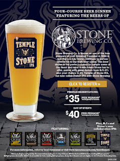 Stone Brewing beer dinner at BJ's