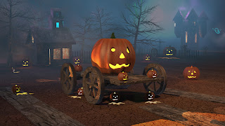 A jack o lantern harvest scene for autodesk contest in 2012