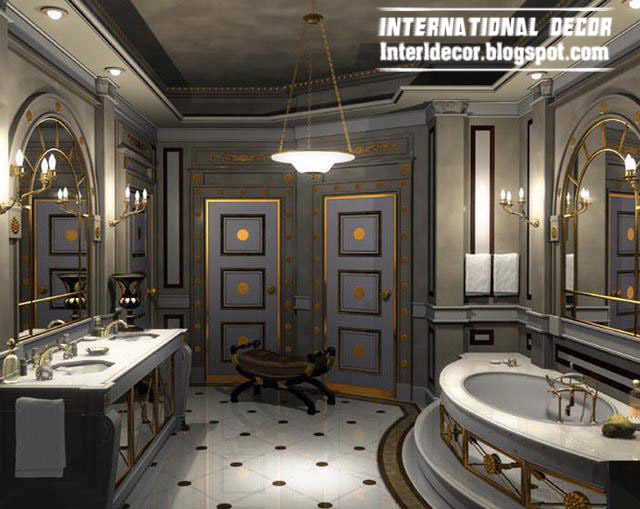 3D Bathroom In Royal Design And Luxurious Accessories