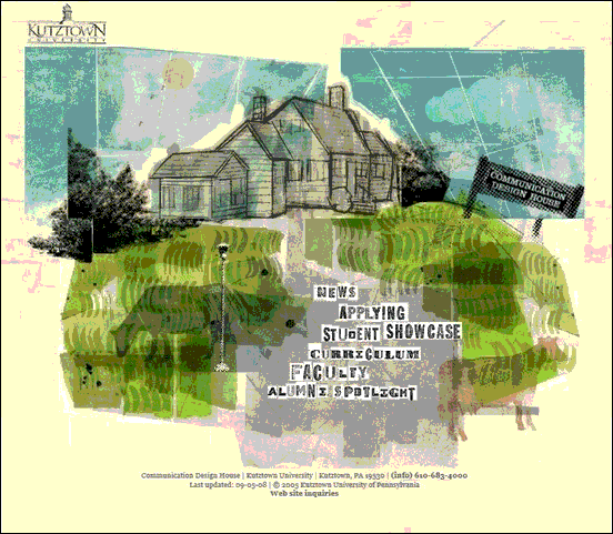 KutzTown - Website design using drawings and illustration