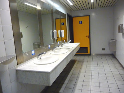 Public toilette in Torino Caselle Sandro Pertini Airport (Italy)