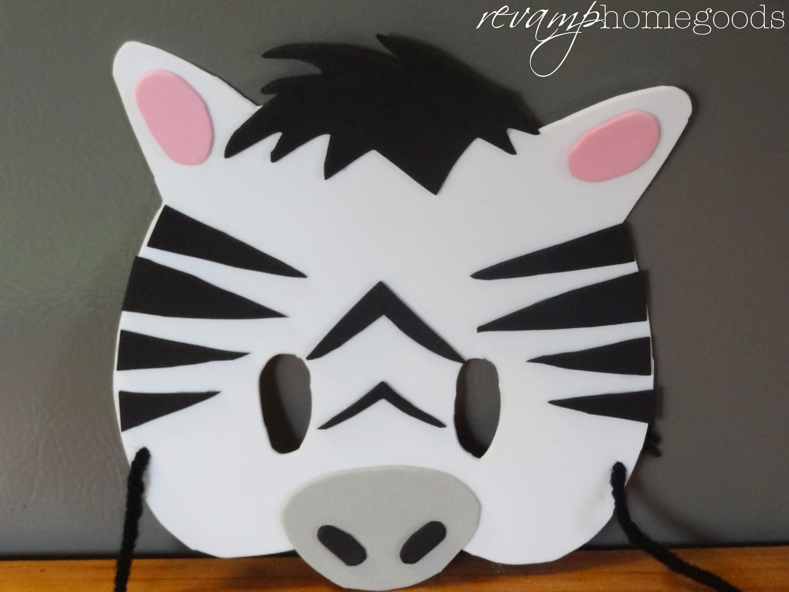 Kids crafts diy foam animal masks revamp homegoods for Mask craft for kids