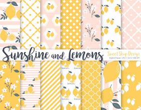 Digital Paper Sunshine & Lemons