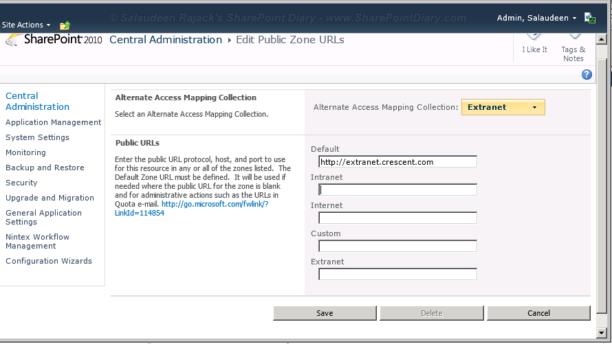how to rename sharepoint 2010 web application